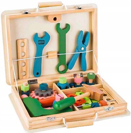 EcoToys Wooden Toolbox Workshop Set