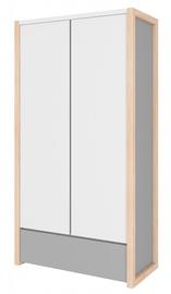 Skapis Bellamy Pinette White/Light Gray, 100x50x190 cm