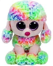 Mīkstā rotaļlieta TY Beanie Boos Rainbow Dog Poodle, 24 cm