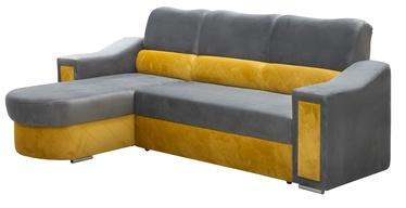 Stūra dīvāns Idzczak Meble Ostin Yellow/Grey, 225 x 176 x 98 cm