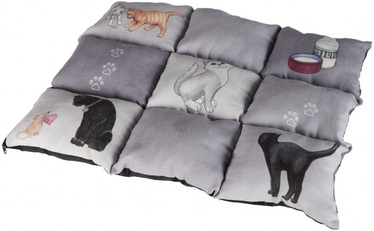 Trixie Patchwork Blanket Cat Grey 55x45cm