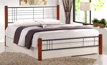 Кровать Halmar Viera 180 Antic Cherry/Black, 206x186 см, с решеткой