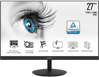 "Monitors MSI PRO MP271, 27"", 5 ms"