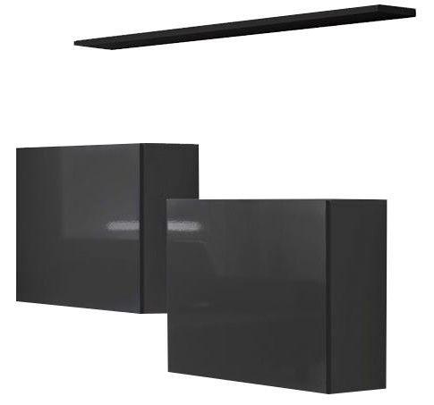 ASM Switch SB I Hanging Cabinet/Shelf Set Graphite/Black Matt