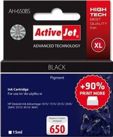 ActiveJet Cartridge AH-650BS For HP 15ml Black