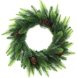 DecoKing Lux Christmas Wreath 50cm Pine Cone/Shadow