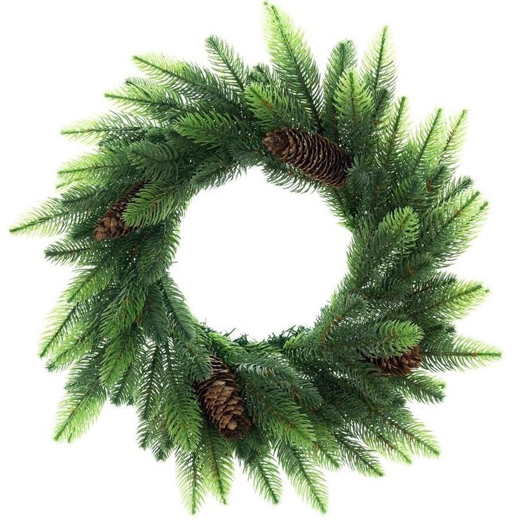 Ziemassvētku vainags DecoKing Lux Pine Cone/Shadow, 500 mm