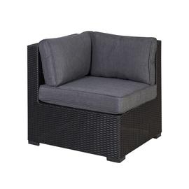 Moduļu dīvāna elements Home4you Sevilla Corner w/ Cushions Black