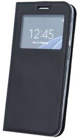 Blun Premium Matt Eco-leather Smart S-View Book Case For Samsung Galaxy J6 J600F Black