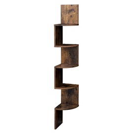 Songmics Shelf 20x20x127.5cm Brown