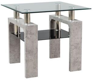 Kafijas galdiņš Signal Meble Lisa D Concrete, 600x600x550 mm