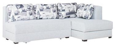Stūra dīvāns Bodzio Judyta Light Gray/London 2, labais, 225 x 155 x 77 cm