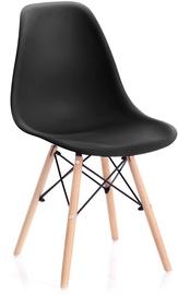 Ēdamistabas krēsls Homede Margot, melna, 4 gab.