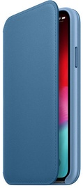 Apple Leather Folio Case For Apple iPhone XS Cape Cod Blue