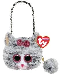 Плюшевая игрушка TY Beanie Boos, розовый/серый