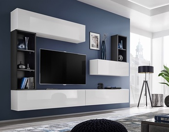 ASM Blox I Living Room Wall Unit Set White/Black