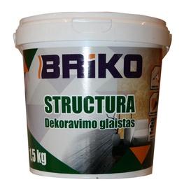 Шпаклевка Briko Structura, готов к использованию, белый, 1.5 l