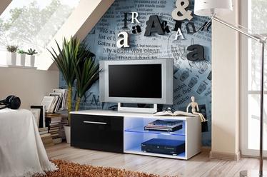 ТВ стол ASM Bono IV, белый/черный, 1200x450x350 мм