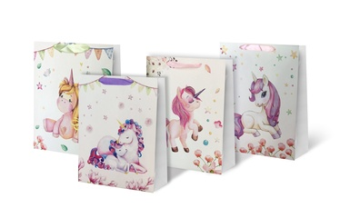 Paper Gift Bag With Unicorn 31x12x40cm SCW314-ABCD-L