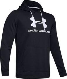 Under Armour Sportstyle Terry Logo Hoodie 1348520-001 Black XL