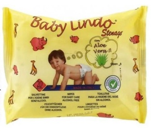 Mitrās salvetes Baby Lindo Aloe Vera, 20 gab.
