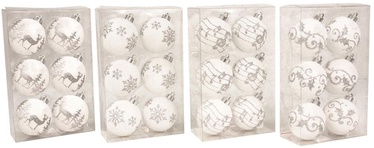 Ziemassvētku eglītes rotaļlieta Verners 100502 White, 60 mm, 6 gab.