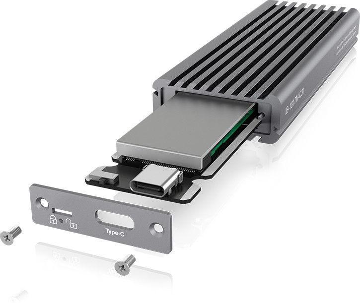 ICY BOX IB-1817M-C31 M.2 SSD USB 3.1 Type - C Enclosure