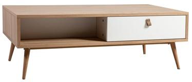 Kafijas galdiņš Home4you Helena White, 1200x600x400 mm
