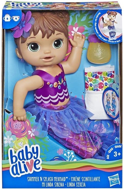 Hasbro Baby Alive Shimmer & Splash Mermaid Brunette E3691