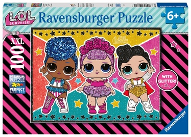Пазл Ravensburger XXL LOL Surprise Glittery 12881, 100 шт.