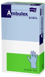 Matopat Ambulex Nitryl Powder Free Gloves M Blue 100pcs