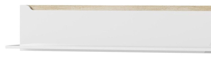 Szynaka Meble Hanging Wall Shelf Ice 31 White