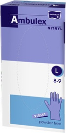 Darba cimdi Matopat Ambulex Nitryl Powder Free Gloves L Purple 100pcs