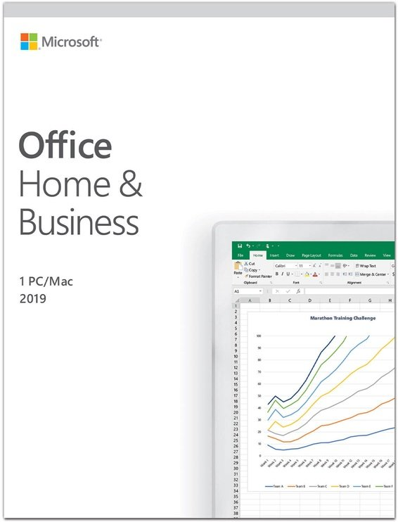 Microsoft Office Home and Business 2019 Retail Russian License Medialess