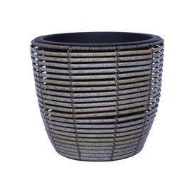 Home4you Wicker Flowerpot D33x28cm Grey