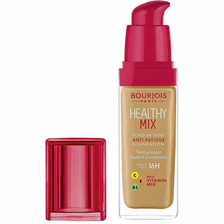 Tonizējošais krēms Bourjois Paris Healthy Mix Anti-Fatigue 16h Foundation Golden Caramel, 30 ml