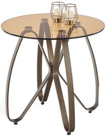 Kafijas galdiņš Halmar Lunga Brown/Antique Gold, 550x550x540 mm