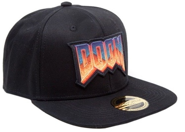 Bioworld Doom Classic Logo Snap Back Hat Black
