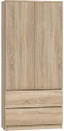 Skapis Top E Shop Malwa SS-90 Sonoma Oak, 90x50x180 cm