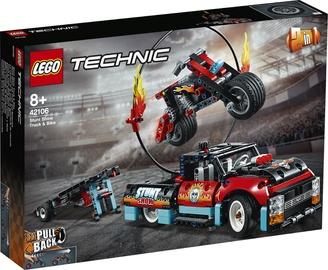 Конструктор LEGO Technic Stunt Show Truck & Bike 42106 42106, 610 шт.