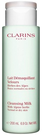 Sejas piens Clarins Cleansing Milk With Alpine Herbs For Normal to Dry Skin, 200 ml