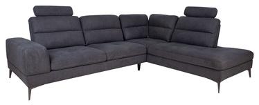 Stūra dīvāns Home4you Maya, pelēka, 229 x 295 x 91 cm