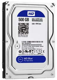 Western Digital Blue HDD 500GB 5400RPM SATA3 64MB WD5000AZRZ