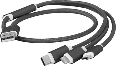 Cablexpert USB 3-in-1 Charging Cable CC-USB2-AM31-1M Black