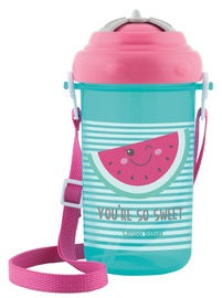 Детская поилка Canpol Babies Sport Cup So Cool With Silicone Straw 400ml Pink