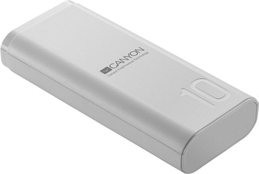 Зарядное устройство - аккумулятор Canyon, 10000 мАч, белый/черный