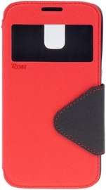 Roar Fancy Diary S-View Book Case For Apple iPhone 7 Red/Black