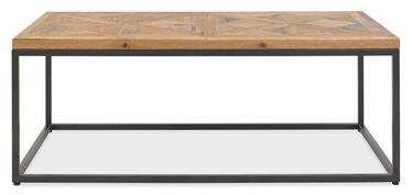 Kafijas galdiņš Home4you Indus Mosaic Oak/Grey, 1140x600x420 mm