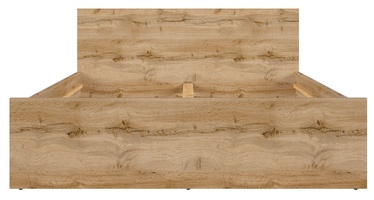 Кровать Black Red White Zele S383-LOZ/140 Wotan Oak, 204.5x145 см
