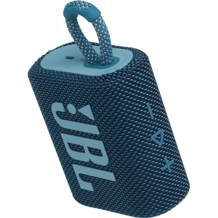 Bezvadu skaļrunis JBL JBL GO 3 Blue, zila, 4.2 W